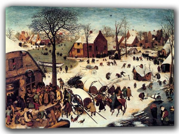 Bruegel the Elder, Pieter: Census at Bethlehem. Fine Art Canvas. Sizes: A4/A3/A2/A1 (002004)